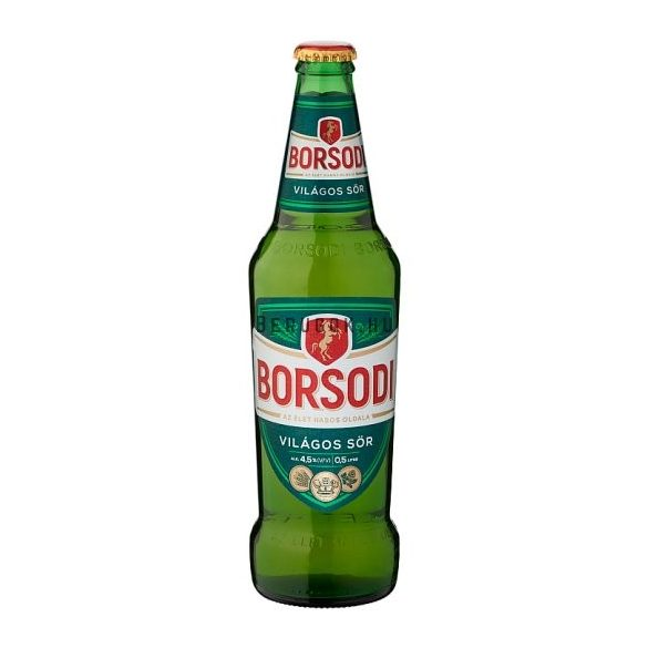 Borsodi Világos 0,5l PAL (4,5%)