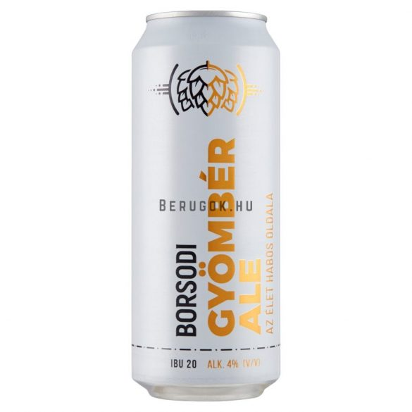 Borsodi Gyömbér Ale (4%) 0,5l DOB