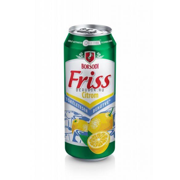 Borsodi Friss Citrom 0,5l DOB (1,5%)