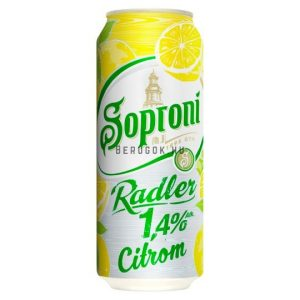 Soproni Radler Citrom 2% 0,5l DOB