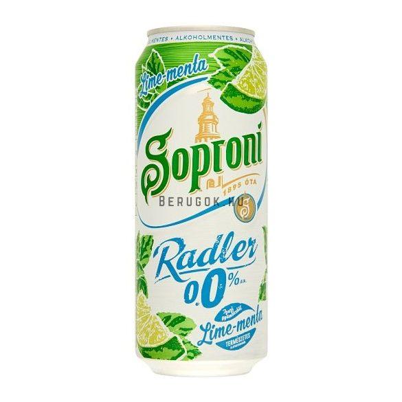 Soproni Radler Lime-Menta 0,5l DOB (0%)