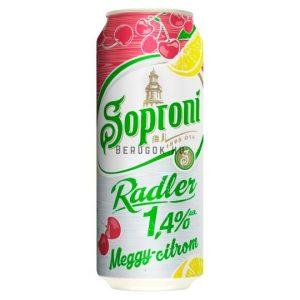 Soproni Radler Meggy-Citrom 0,5l DOB (2%)
