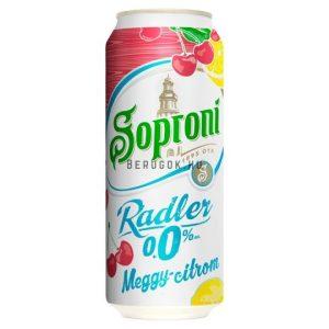 Soproni Radler Meggy-Citrom 0,0% 0,5l DOB