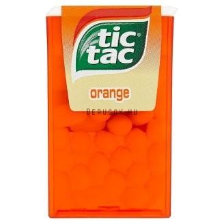 Tic Tac Orange Narancs Ízű Cukordrazsé 18g
